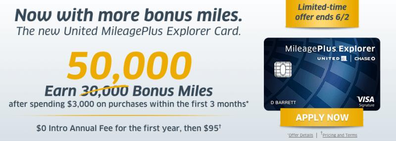 United mileageplus explorer card 50000 bonus miles cekharga earn 55 000 united miles with the mileageplus explorer card colourmoves