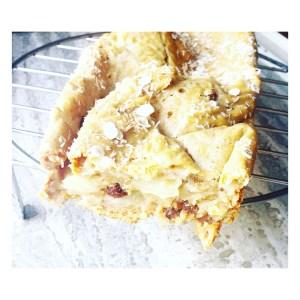 Gezonde vanille-appel cake