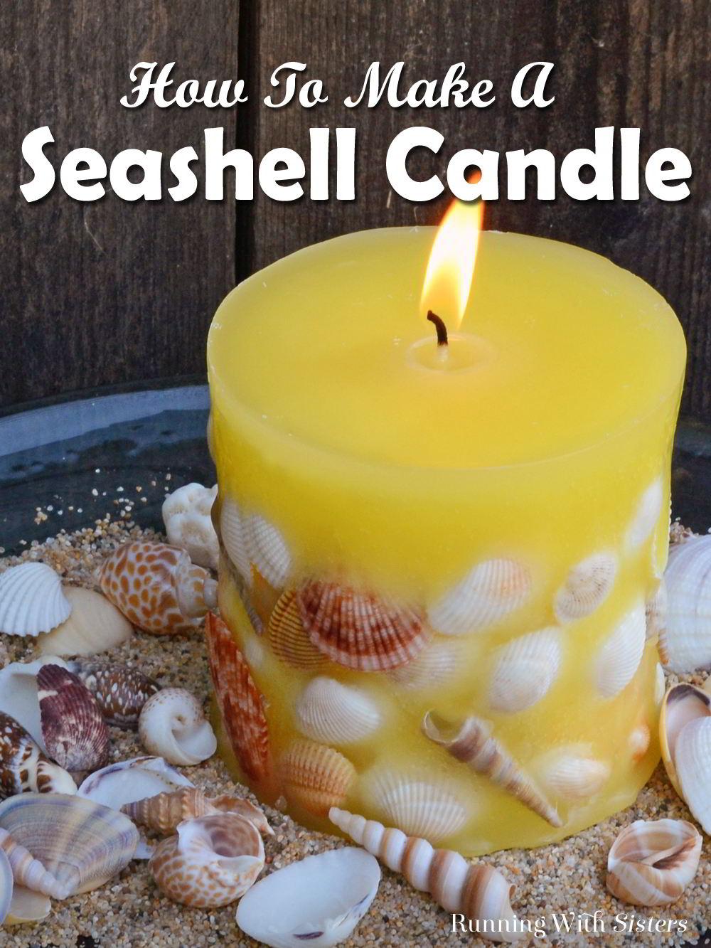 Diy Candle Making Designer Seashell Candles Running