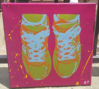 """Running Shoes"" - Spray Paint"