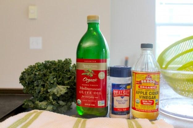 Tots in The Kitchen - Salt & Vinegar Kale Chips ingredients