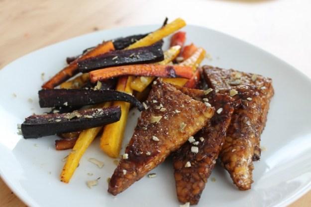 Honey Roasted Carrots & Tempeh