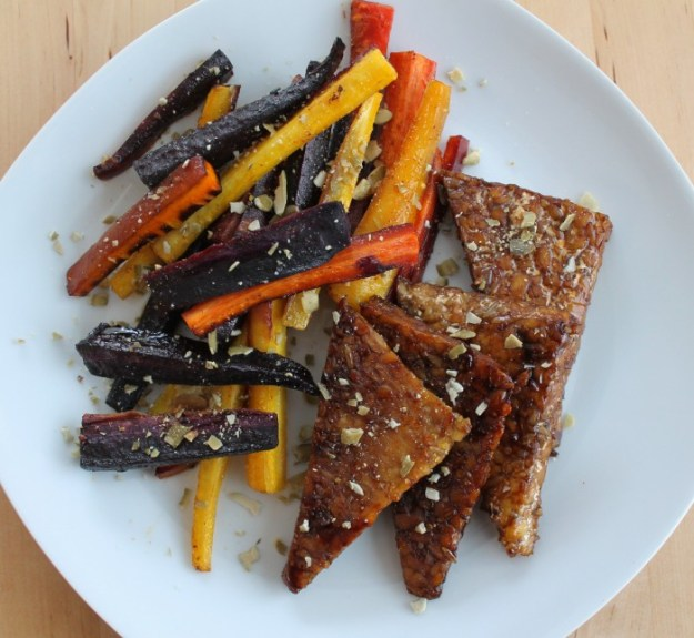 Honey Roasted Carrots & Tempeh square