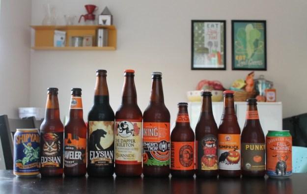 Pumpkin Beer Tasting 2014 - 11 Beers