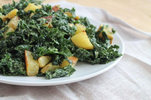Kale Salad With Creamy Cashew Dressing | Running With Tongs | Closeup