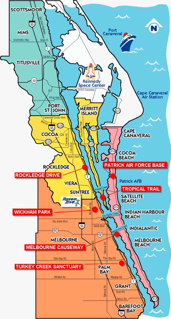 Space Coast Running Locations | Running Zone