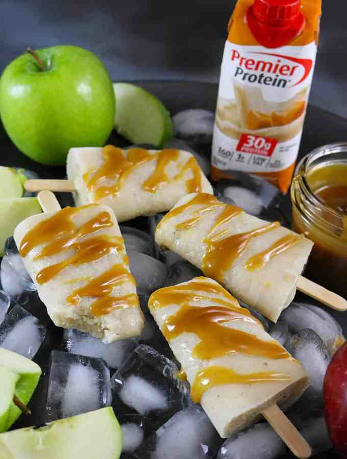 Caramel Apple Protein Popsicles