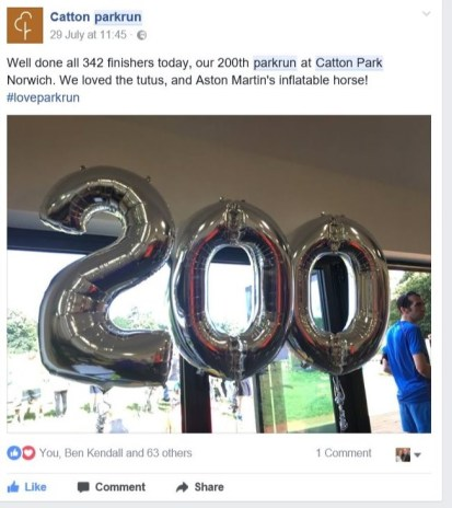 Catton Parkrun FB pic