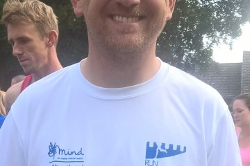 Runnorfolk blogger Shaun Lowthorpe at the start of the Wissey Half Marathon