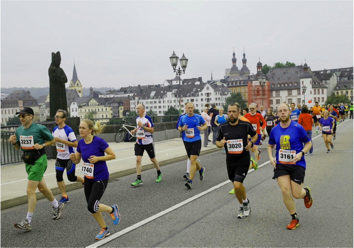 Koblenz Marathon - why not meet for a run where the two rivers meet?