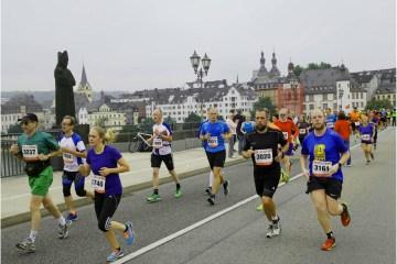 Runners in the Koblenz Marathon