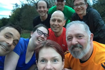 Runners at the Norfolk Trail Running meet up on Wednesday evenings
