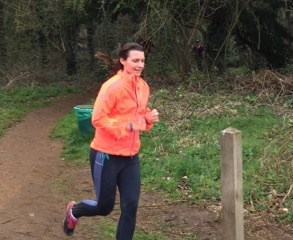 Sophie Kendall enjoying a run with bump 2 at Catton Park