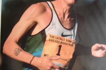 Paul Evans running in the Chicago Marathon