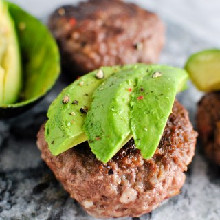 Whole30 Garlic Bacon Avocado Burgers