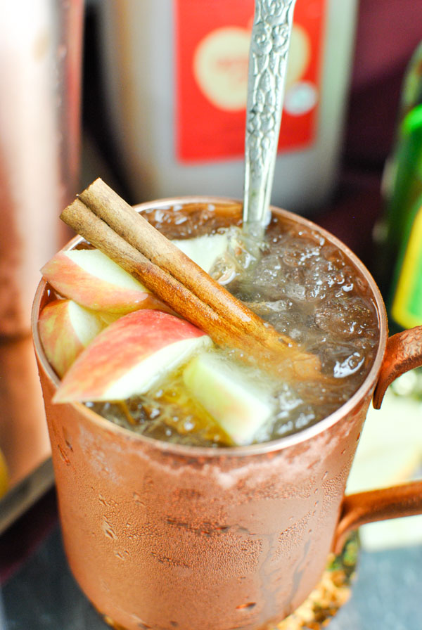 the PERFECT fall cocktail! Apple cider ginger moscow mules!! they're delightful and fall-y. and so so easy!   thepikeplacekitchen.com