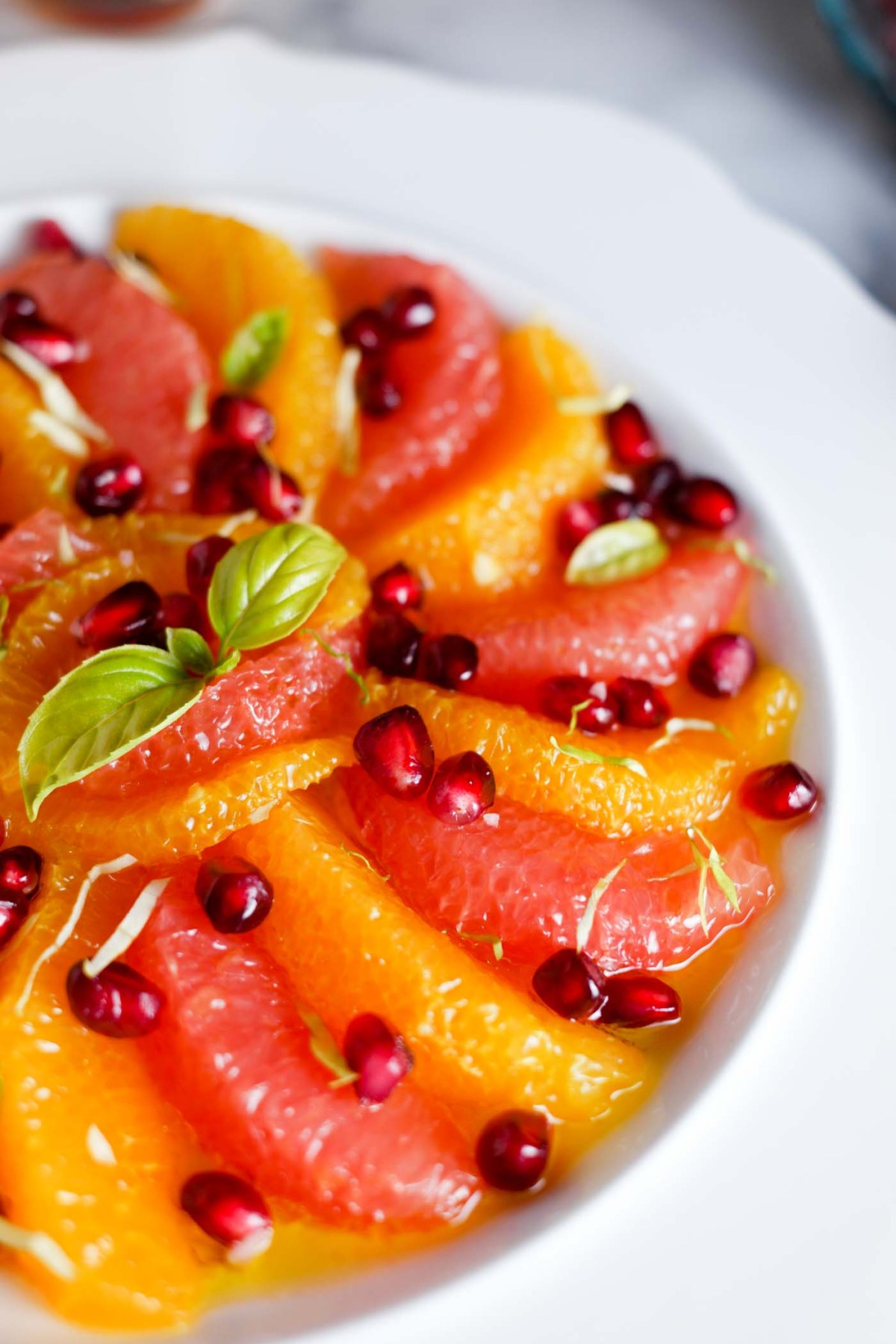 this quick & easy fruit salad is super wintery! Sweet... yet savory. a BEAUTIFUL side for the holiday dinner table!   thepikeplacekitchen.com
