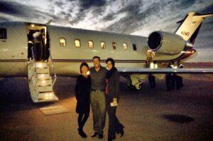 Private aviation, trip home