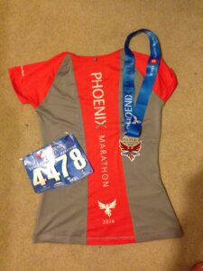 Phoenix Marathon bib, medal & shirt