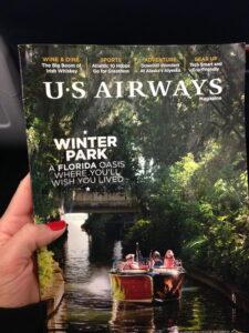 US Airways March 2014 Magazine, Winter Park, FL