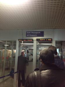 Roma Fiumucino Passport Control