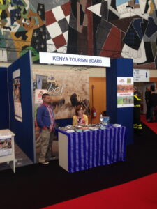 My favorite booth at the expo :) Kenyan Tourism Board