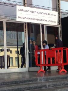 maratona di roma expo marathoner entrance