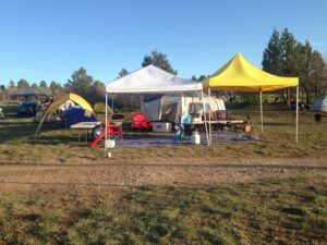Our camp before everyone else arrives Photo Credit: Tom Scotney