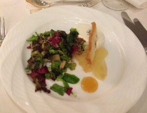 goat cheese, pear, salad, ritz carlton, buckhead, atlanta, banquet, dinner