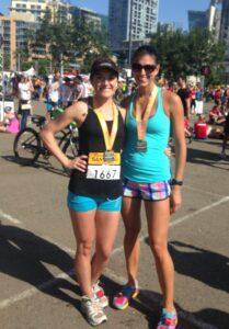 Post Race with Rhea