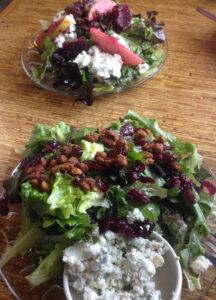Eclipse chocoate, san diego, california, beet & green apple salad, bleu cheese pecan salad