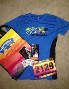 Ventura Marathon, Half Marathon, Race Swag, T Shirt, Bib