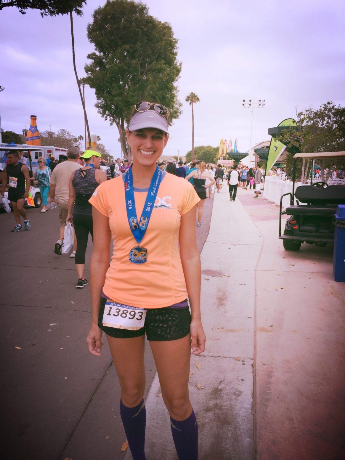 OC Marathon, Half Marathon, Medal, Race Shirt, Post Race Photo