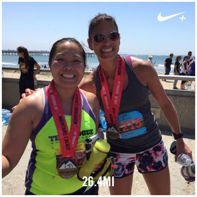 m2b, marathon, mountains to beach, 2015, race bling