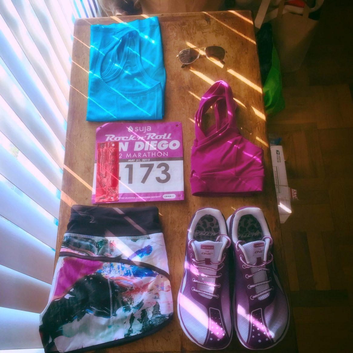 Flat Jenny, runnylegs, race outfit, rock n' roll, san diego, marathon, half marathon