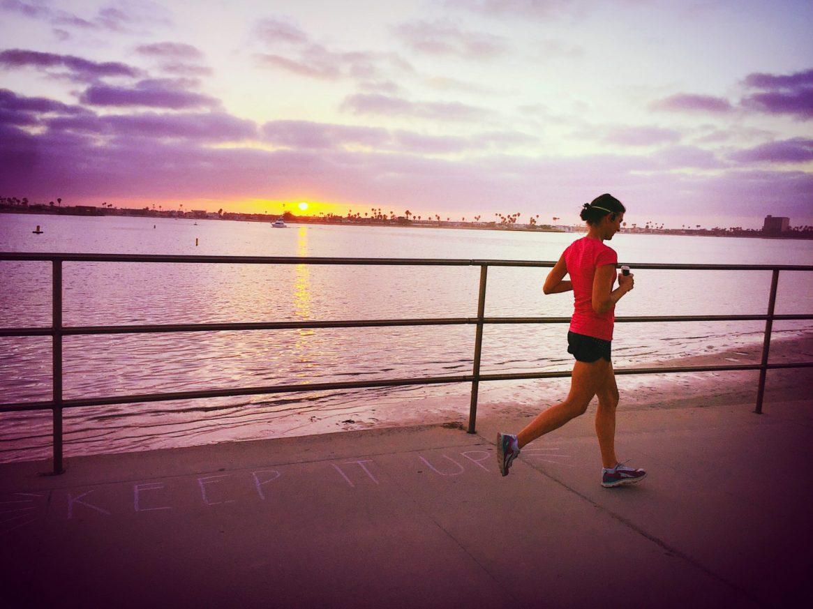 Sunset run, mission bay, san diego, beach run, sunset