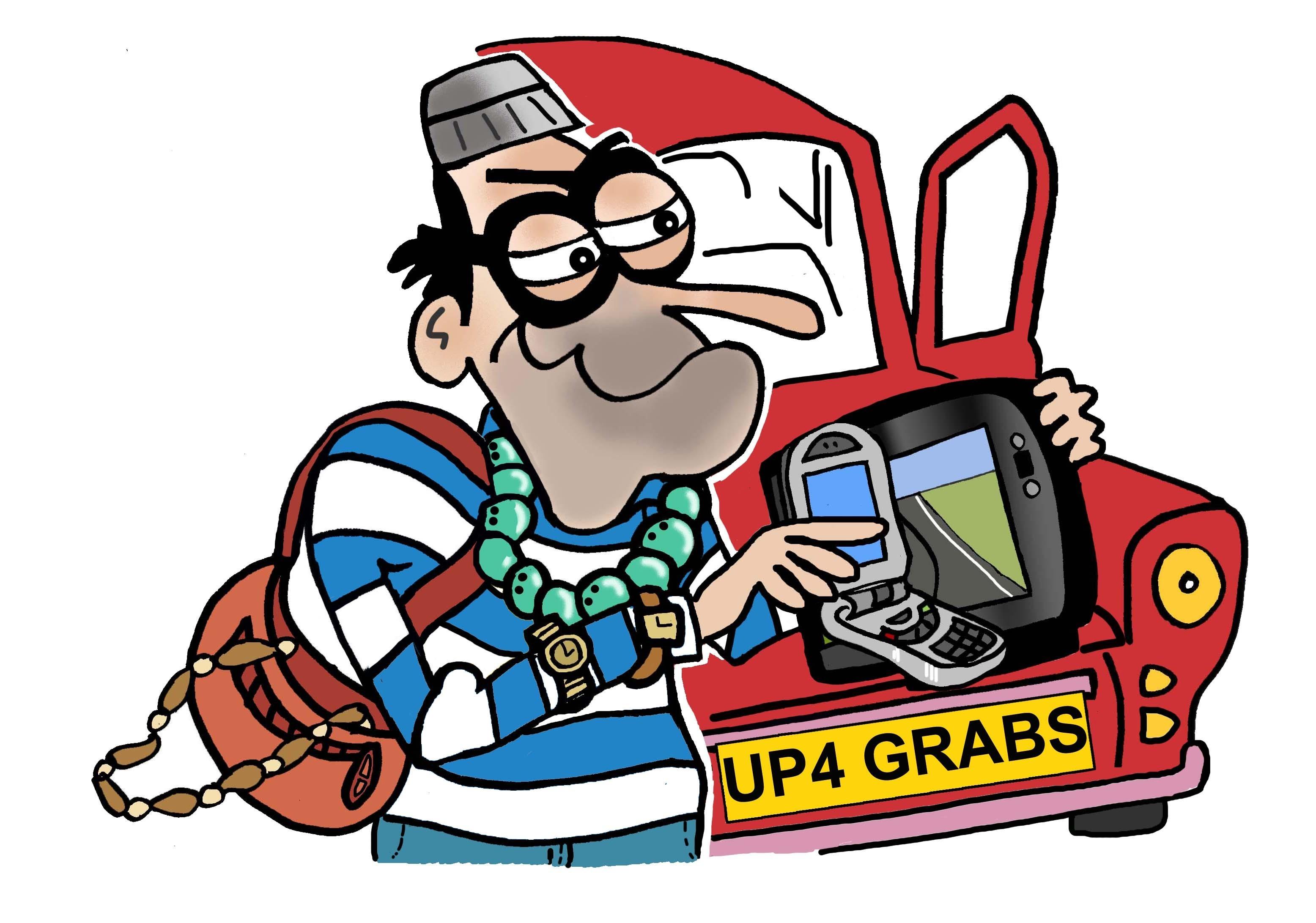 Vehicle Crime Cartoon
