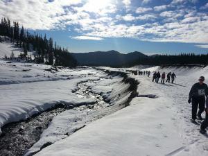 White River Snowshoe Race Along The White River Canyon Credit: Amber Corsen