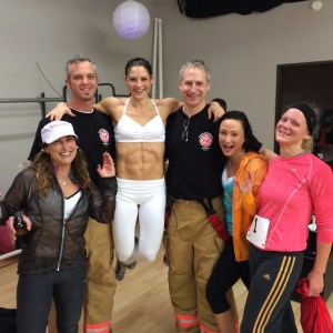 Post race fun with the firemen!  Photo Credit: Amy Little