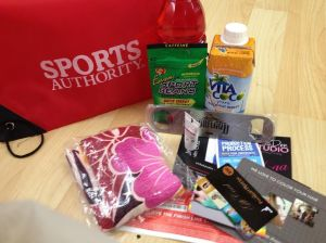 Check out all the goodies in the SWAG bag!  Photo credit: Amy Little