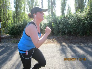 Another not-so-flattering photo at mile 9 of the 2011 Every Girls Half Marathon