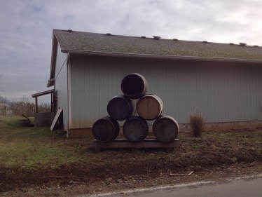 Wine Barrels from one of the multitude of wineries along the course. - Photo courtesy of Matt Rasmussen