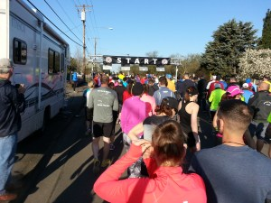 Mackenzie River Half Marathon Start Line Photo Credit: Amber Corsen