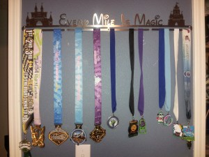 Just a few medals on my  Every Mile is Magic Allied Medal Display