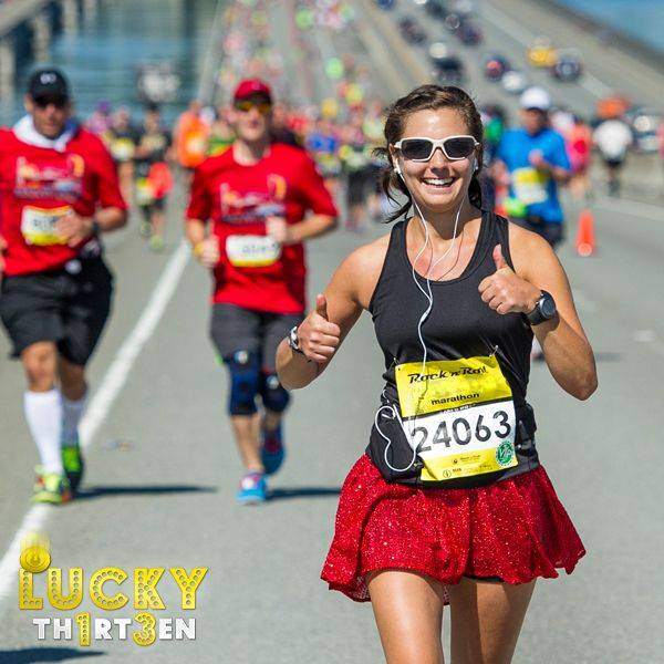 Sparkle Skirt gives the Rock n.' Roll Seattle Marathon two thumbs up. Save $13 on the 13th of every month when you sign up for a RnR event.