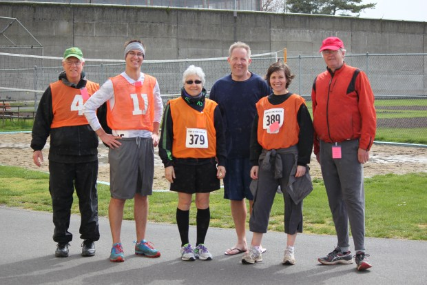 Post-race shot of the outsiders with OSP staff Todd Cooley (in blue) - Photo by OSP Athletic Club