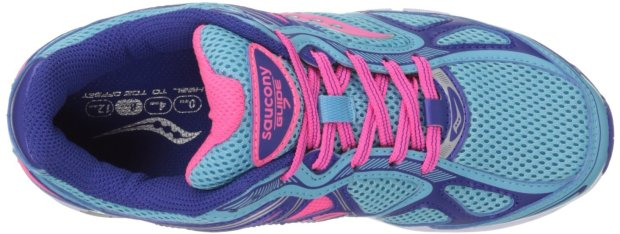 top of shoe Saucony Women's Guide 7 Running Shoe