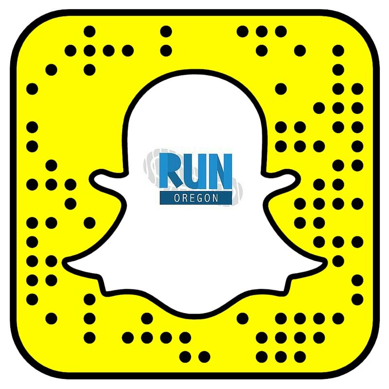 Run Oregon Snapcode White
