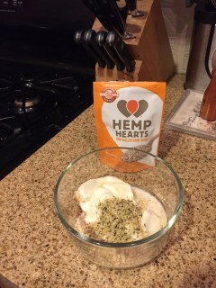Manitoba Hemp Hearts in Overnight Oats