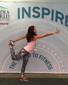 Fitness at IDEA World: Dancer pose